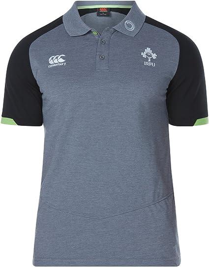 Canterbury Mens Ireland IRFU 2018//19 Performance Cotton Rugby Polo Shirt T-Shirt
