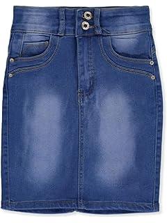 Nicole Premium Jeans Girls Tab-Over Denim Pencil Skirt