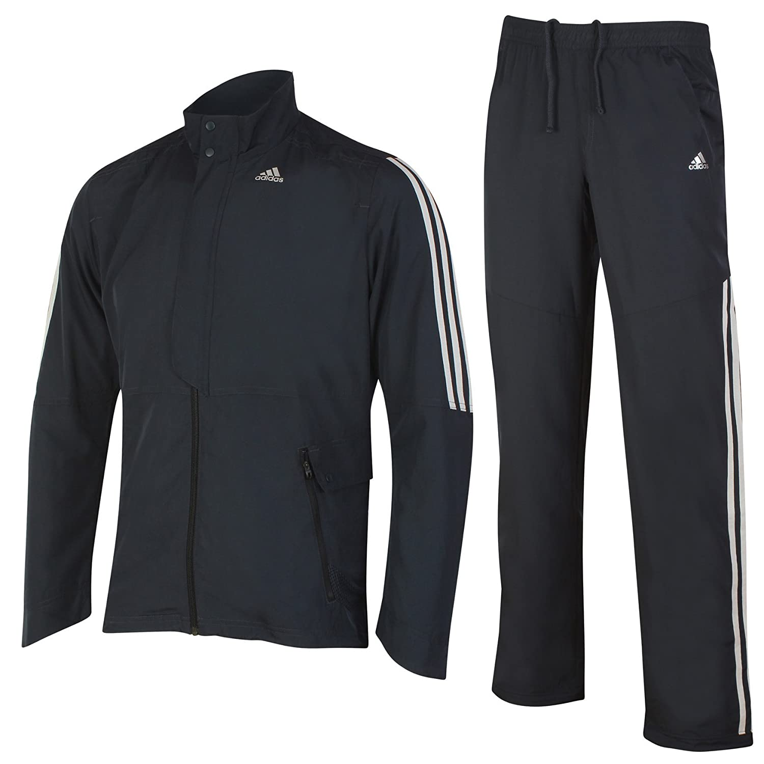adidas Mens Performance Nightshade Black climalite Woven