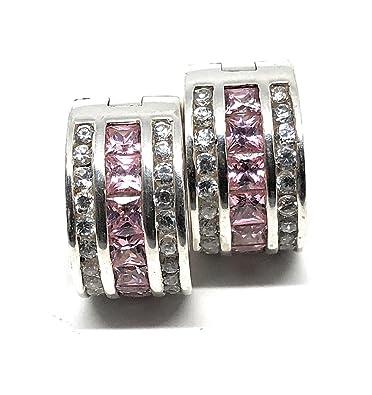 56dc6caa7 Thomas Sabo Hoop Earrings Cubic Zirconia CR471 - White Pink: Amazon.co.uk:  Jewellery