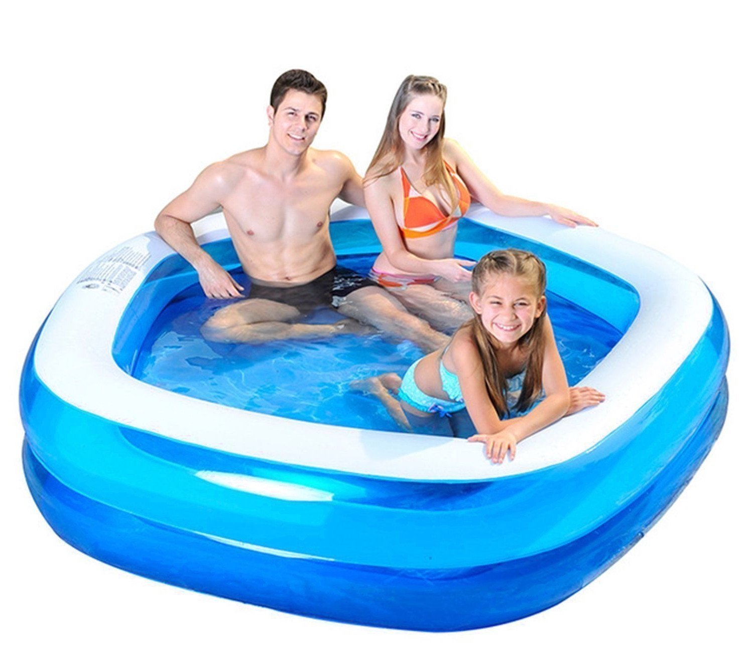 jnwd Inflatable Kiddie Pool Summer Outdoor Family Patio Water Fun Small Backyard Garden Swimming Center & e-Book by jn.Widetrade. by jnwd