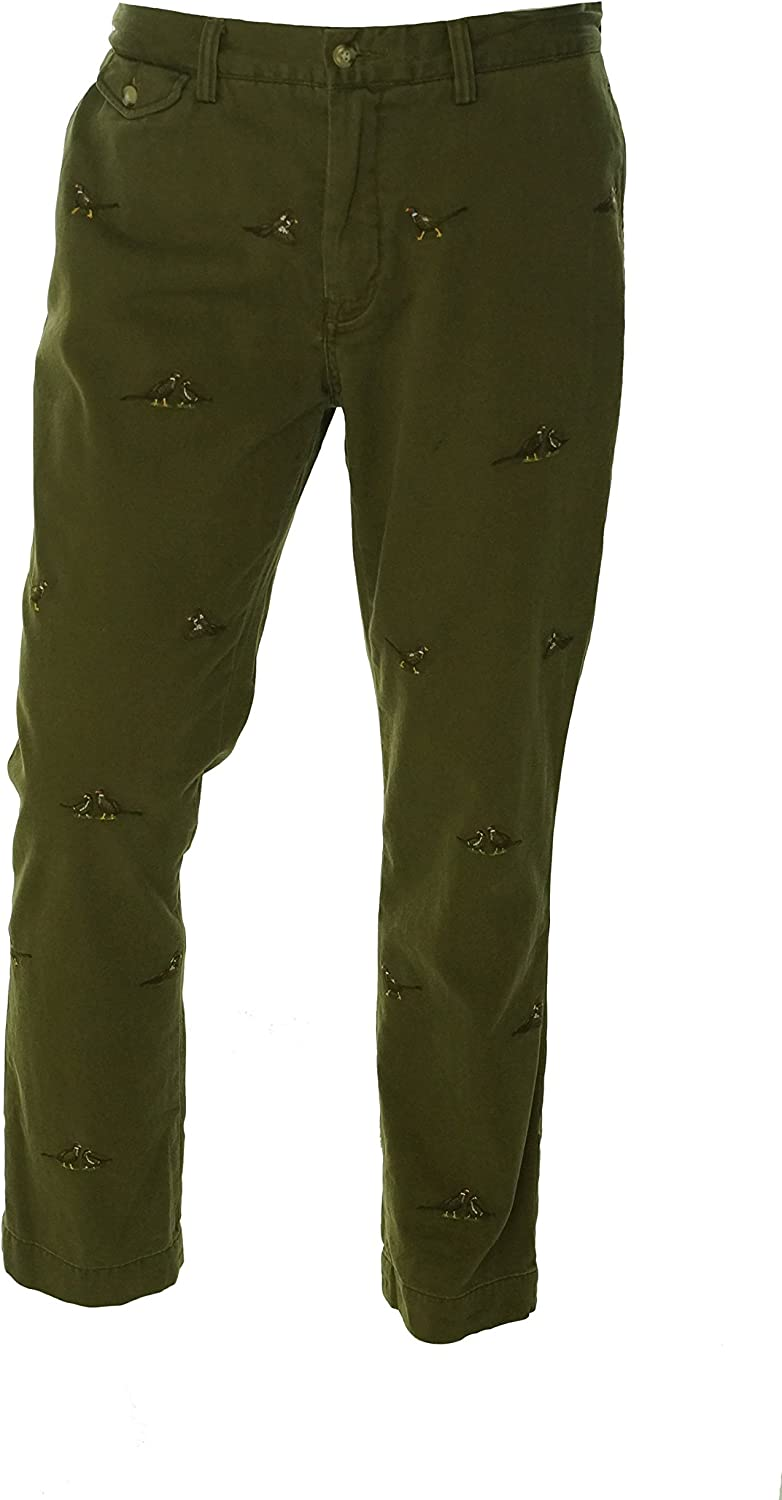 Ralph Lauren Mens Straight Leg Casual Chino Pants