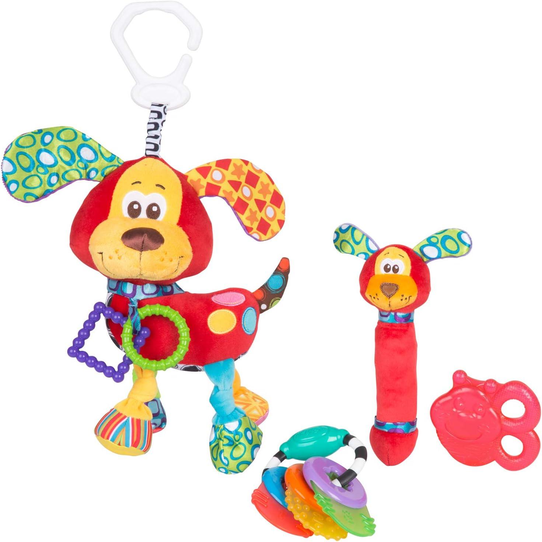 Playgro Geschenkset Dschungelfreunde Mehrfarbig Ab 0 Monaten 7-teilig 40190 Mit Hand- und Fu/ßgelenksrasseln