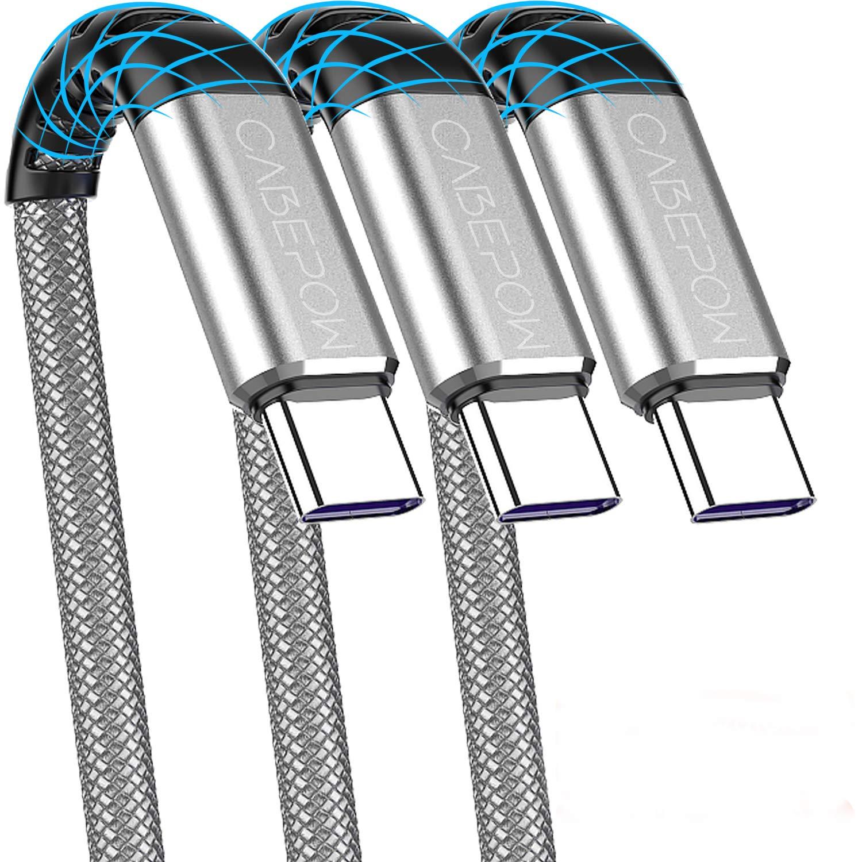 3 Cables Trenzados USB-A a USB-C 30cm Cabepow -JQGK