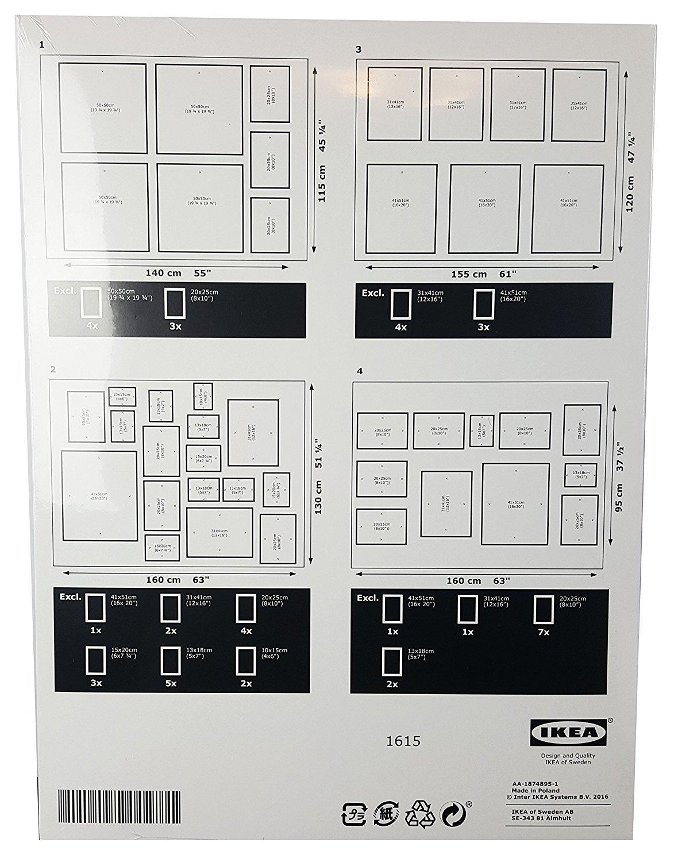 IKEA matteby - Plantilla de pared para colgar marco de fotos Collage ...