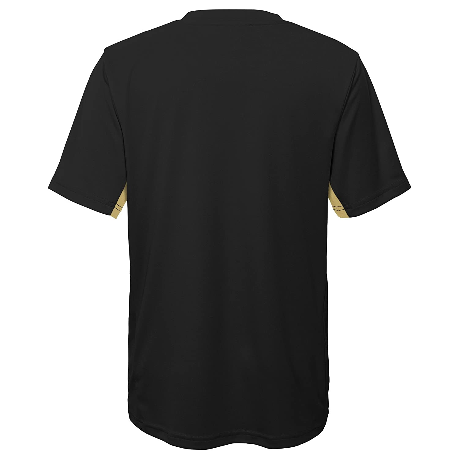 NCAA by Outerstuff NCAA Central Florida Golden Knights Youth Boys Mainframe: Short Sleeve Performance Top Black Youth Large 14-16