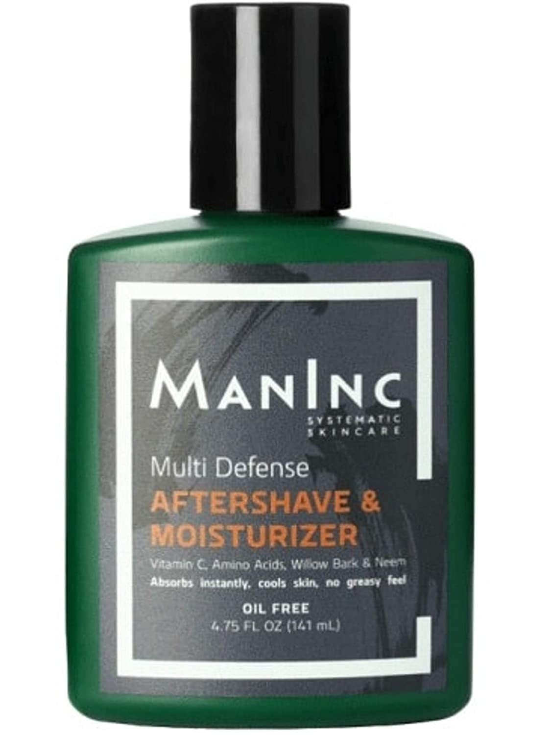 MANINC Anti Aging Aftershave Lotion for Men, Sensitive Skin, Cooling Sensation, for Razor Bumps Ingrown Hairs, Soothes After Shaving, Oil-Free, Skin Restoring, Vitamin C Lotion, Willow Bark, 4.75 oz