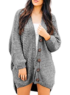 cad52a2af0 HOTAPEI Women s Casual Open Front Cable Knit Cardigan Long Sleeve Sweater  Coat with Pocket