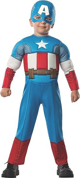 Avengers - Disfraz de Capitán América Deluxe para niños, infantil ...