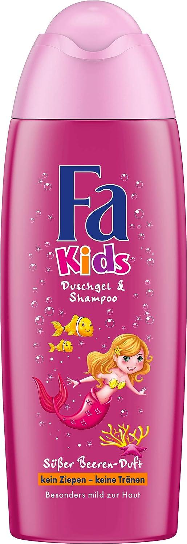 Fa Kids Duschgel und Shampoo, Meerjungfrau, 6er Pack (6 x 250 ml) FGSKM
