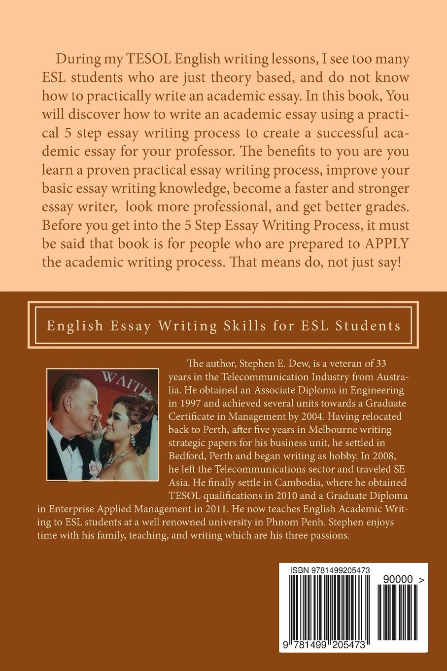 the 5 step essay writing process english essay writing skills for the 5 step essay writing process english essay writing skills for esl students academic writing skills volume 3 mr stephen e dew 9781499205473