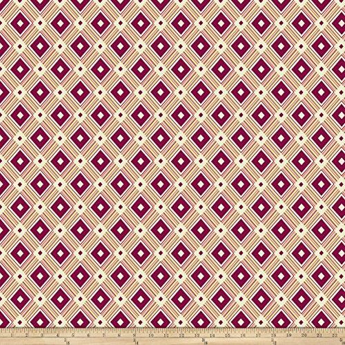 Denyse Schmidt Fabrics - FreeSpirit Fabrics Denyse Schmidt Ludlow Diamond Medallion Dogwood Yard