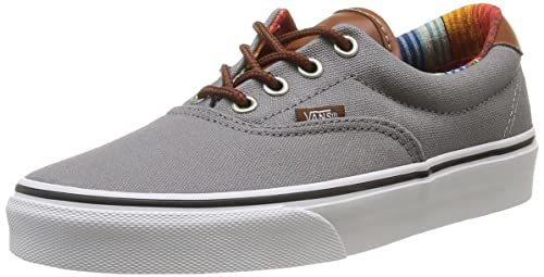71fe5feef2e8d1 Image Unavailable. Image not available for. Colour  Vans Era 59 (C L Steel  Grey Multi Stripe) Mens ...
