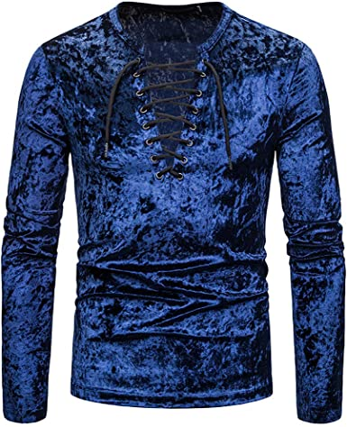 Sylar Camisetas De Hombre Manga Larga Camiseta Abertura Llano V Cuello Camisas Algodón Casual Camisas Terciopelo para Hombre Sudadera Hombre Sin Capucha: Amazon.es: Ropa y accesorios