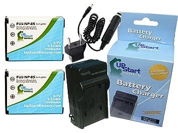 Amazon.com: 2 x Pack batería de repuesto + Cargador con NP ...