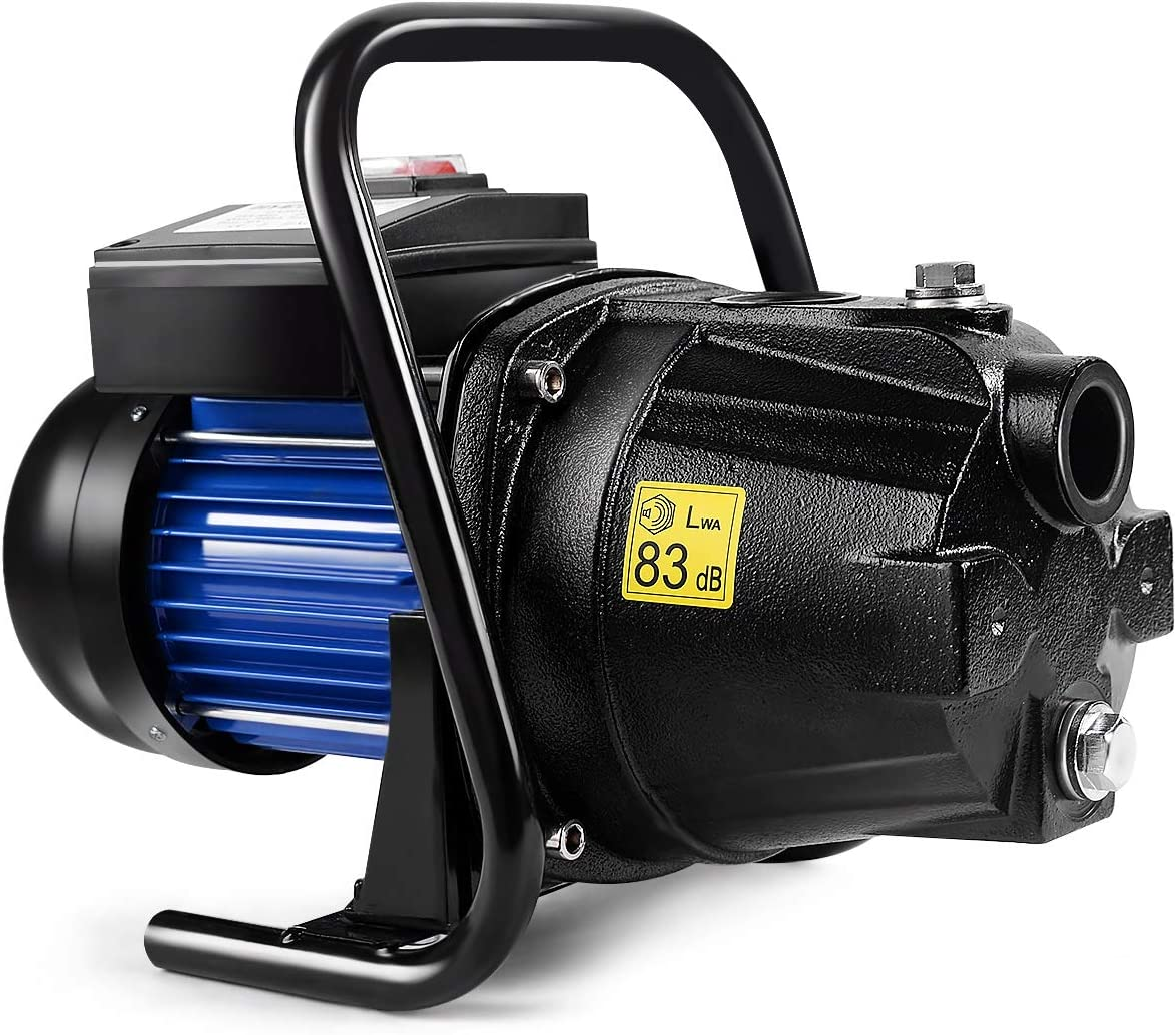 Goplus 1.6HP Well Water Pump Home Garden Irrigation Booster Jet Pump 1000GPH, 1200W (Black)