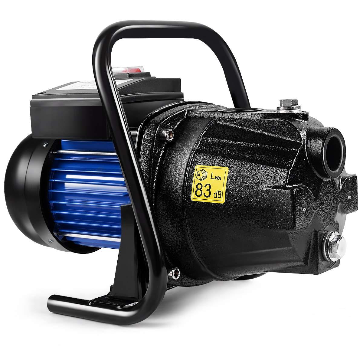 Goplus 1.6HP Well Water Pump Home Garden Irrigation Booster Jet Pump 1000GPH, 1200W (Black)