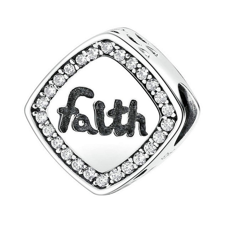 EverReena Keep Faith Charm Silver Beads Bracelets
