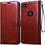 Bracevor Leather Case Flip Cover | Foldable Stand | Wallet Card Slots for Apple iPhone 7 4.7 inch - Executive Brown