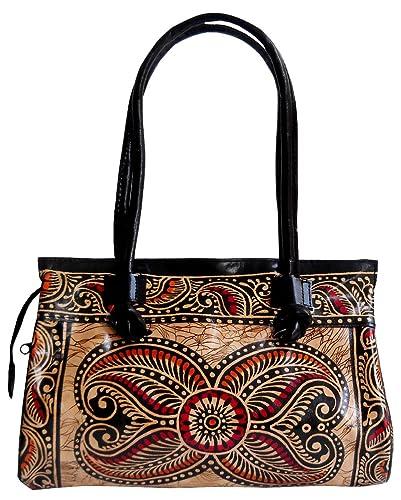 8ff3e5ffaa Exclusive Batik Design Ethnic Hand Made Shantiniketan Leather Indian  Shoulder Bag