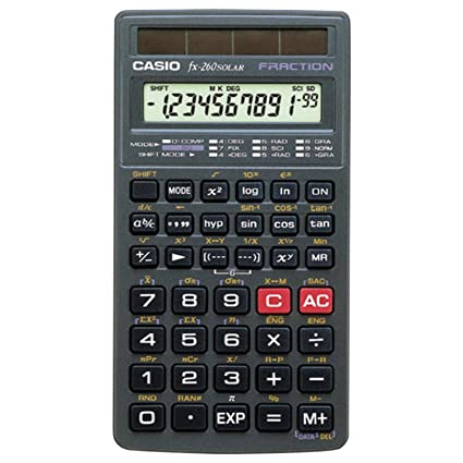 amazon com casio fx 260 solar scientific calculator black electronics rh amazon com casio exilim n78 manual Casio Exilim User Manual