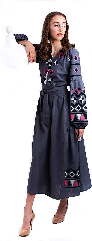Ukrainian Fashion Embroidered Boho Maxi Max Popular 70% OFF Dress New Bohostyle