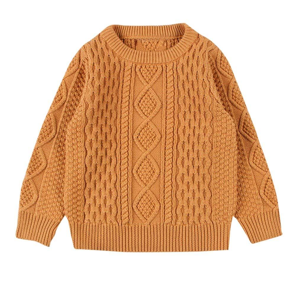 Kobay Kinder Baby Mädchen Jungen Langarm Strick Sweatshirt