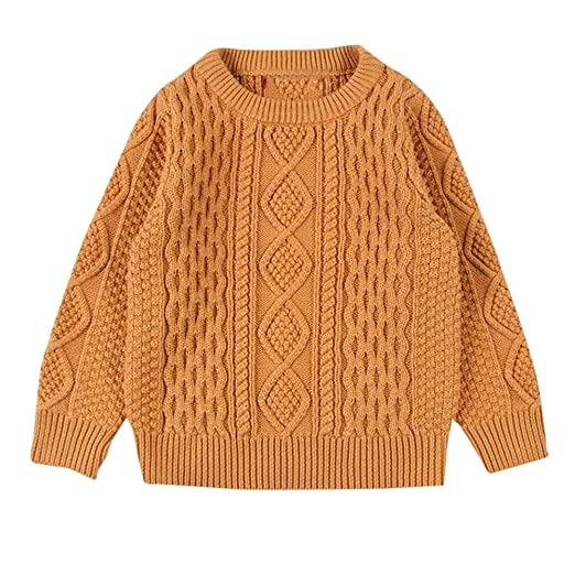 9687079cd254 SUNBIBE👻Toddler Baby Boy Girl Cable Knit Pullover Sweater Solid Cotton  Warm Cardigan Children Kid