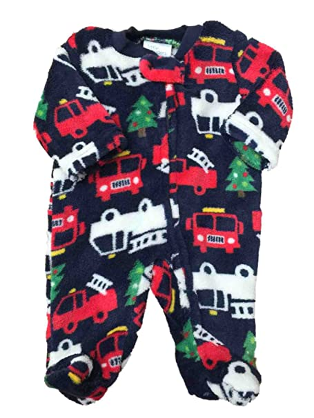 b945c945ae Image Unavailable. Image not available for. Color  Little Wonders Infant  Boys Christmas Tree Firetruck Fleece Pajama ...