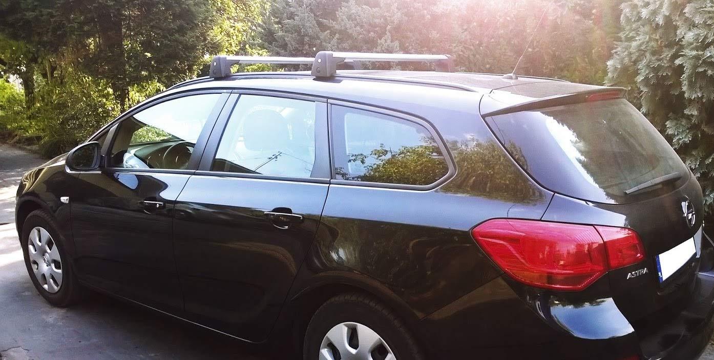 Accesorios Originales - Opel Astra J Sports Tourer barras de techo portaequipajes de aluminio: Amazon.es: Coche y moto