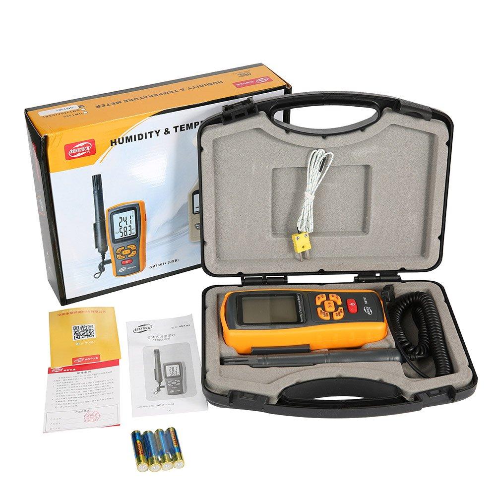 Indoor Outdoor Temperature Humidity Meter humidity test devices temperature measuring GM1361