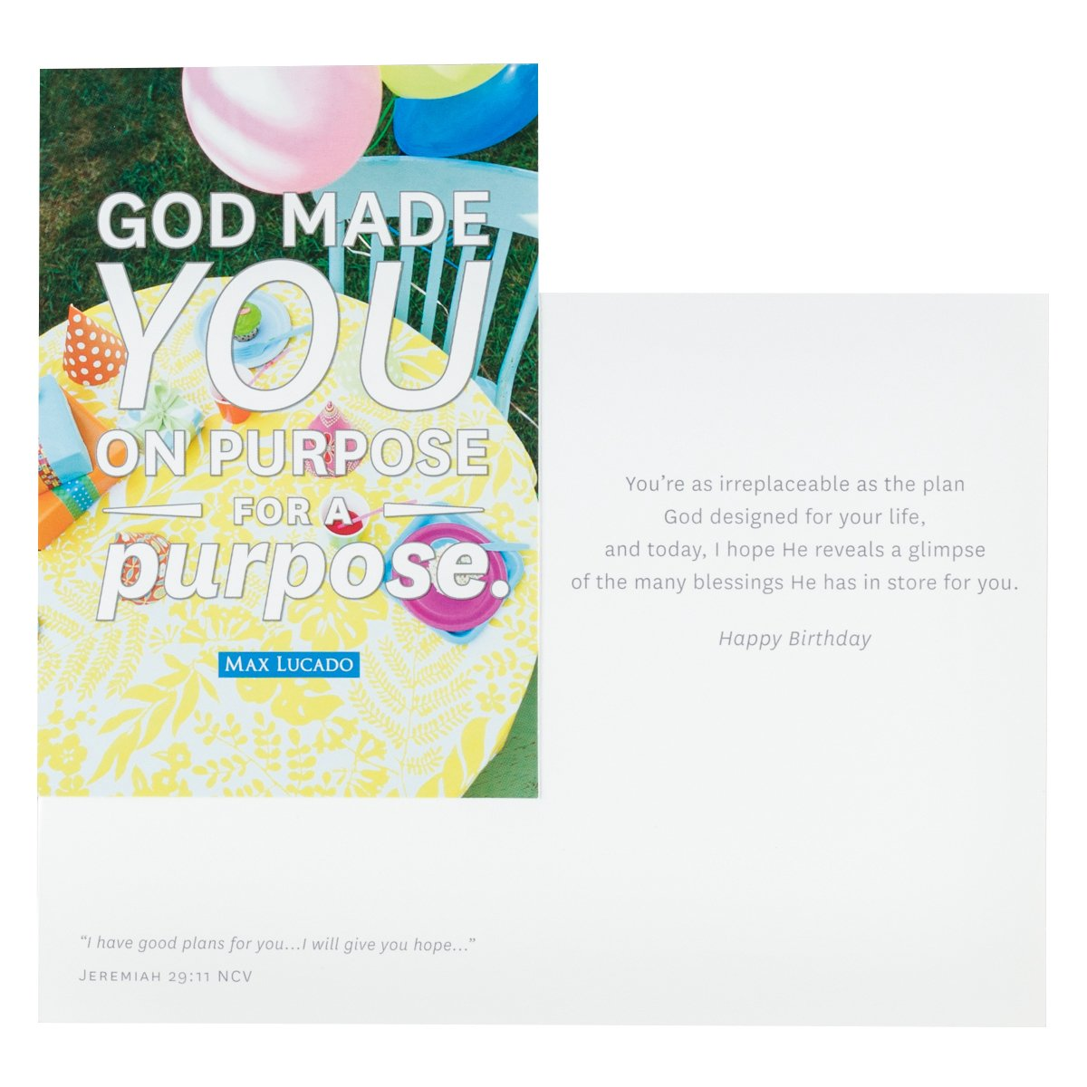 Dayspring birthday boxed greeting cards 12 count with embossed dayspring birthday boxed greeting cards 12 count with embossed envelopes max lucado god made you amazon office products kristyandbryce Choice Image