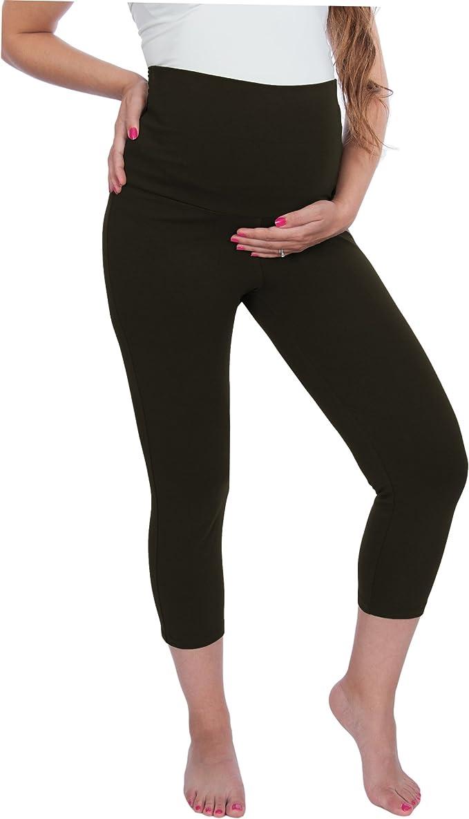 Amazon.com: Maternidad Capri Yoga pantalones polainas ...