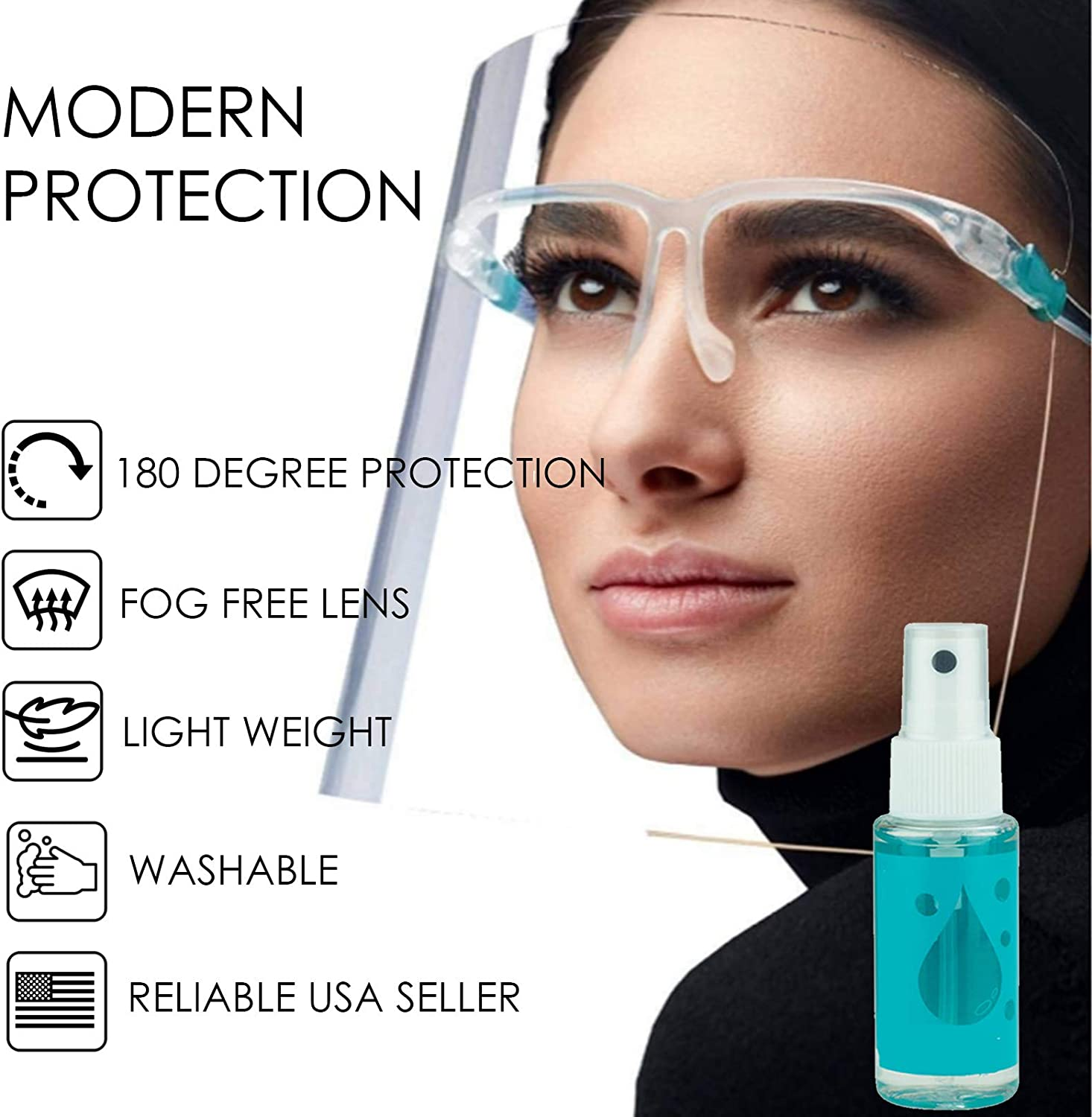 proSPORT Protective Face Shield Clear Protection for Face Mouth Eyes 5