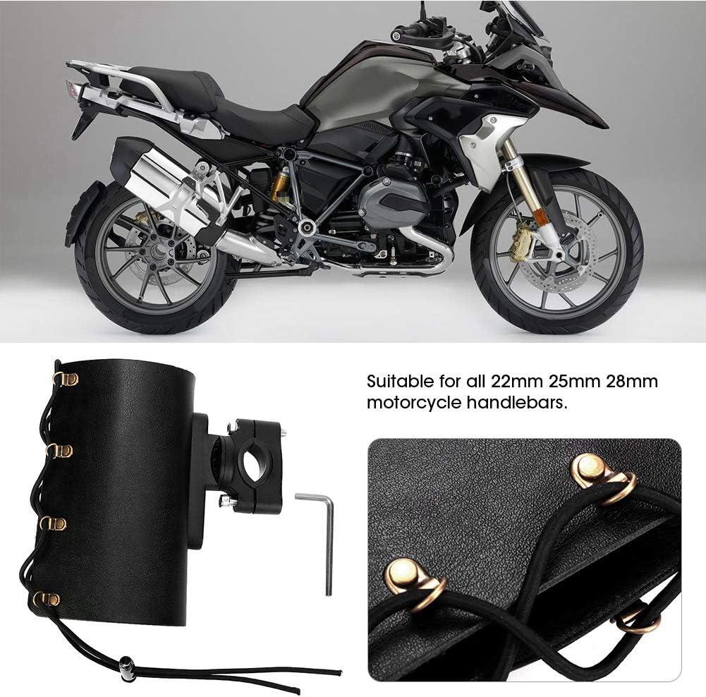 Porta Botella Ajustable Ajustable para Motocicleta Portavasos para Bebidas Negro Portavasos para Motocicleta