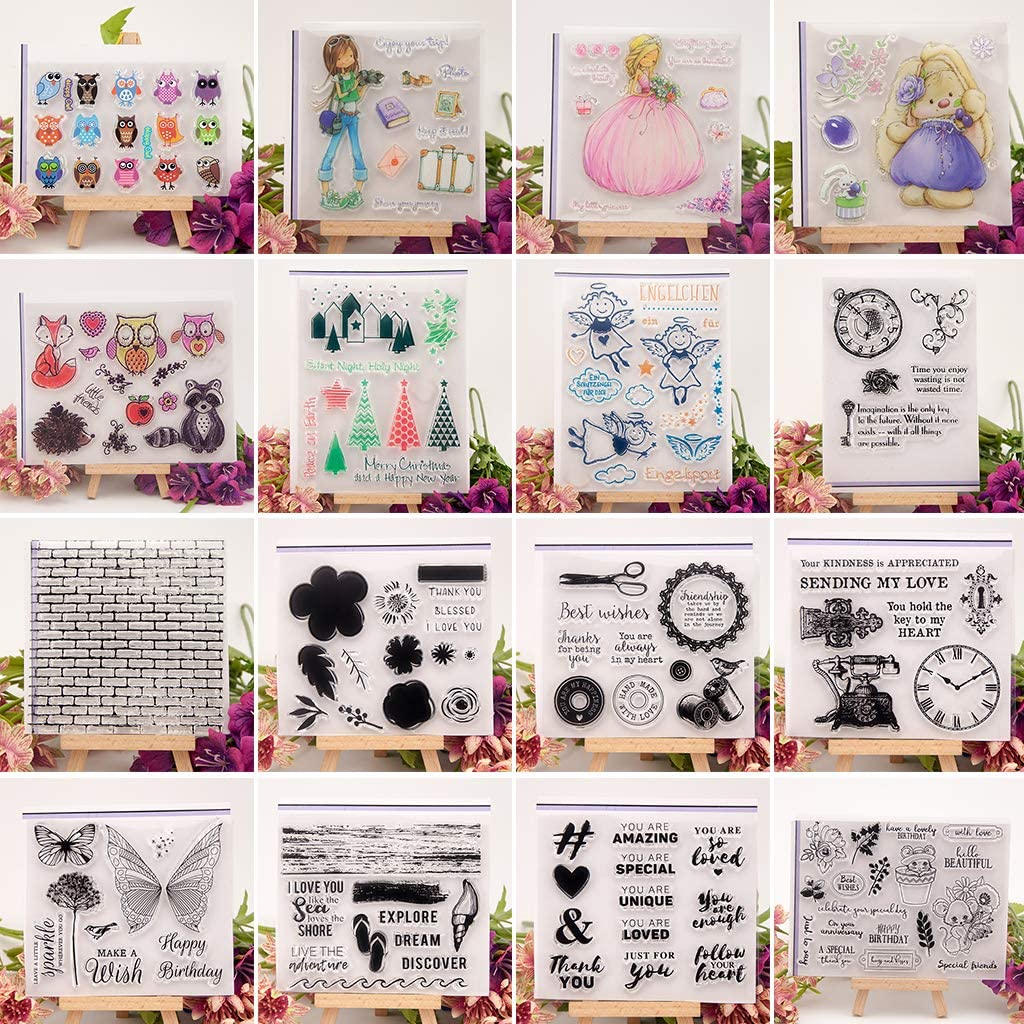 BINGMAX Wall Clear Silicone Rubber Seal Stamp DIY Album Scrapbooking Photo Card Decor