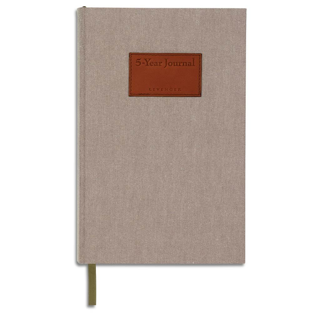 Levenger 5-Year Journal - Ruled (Diary, Notebook)/366 pages, Micro-Perforated 100gsm pages by Levenger