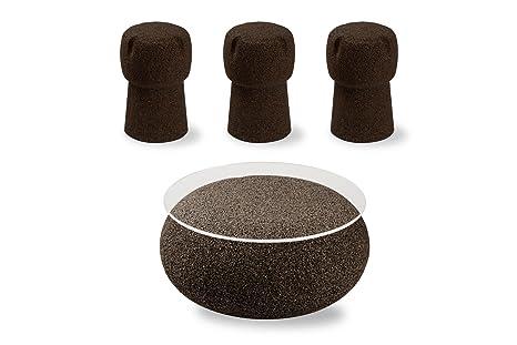 Greencorks combinazione tavolo nepal con 3 sgabelli corkpouf h 45
