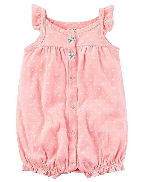 81e9e0dd329 Amazon.com  Carter s Baby Girls  Octopus Butt Snap Up Romper  Clothing