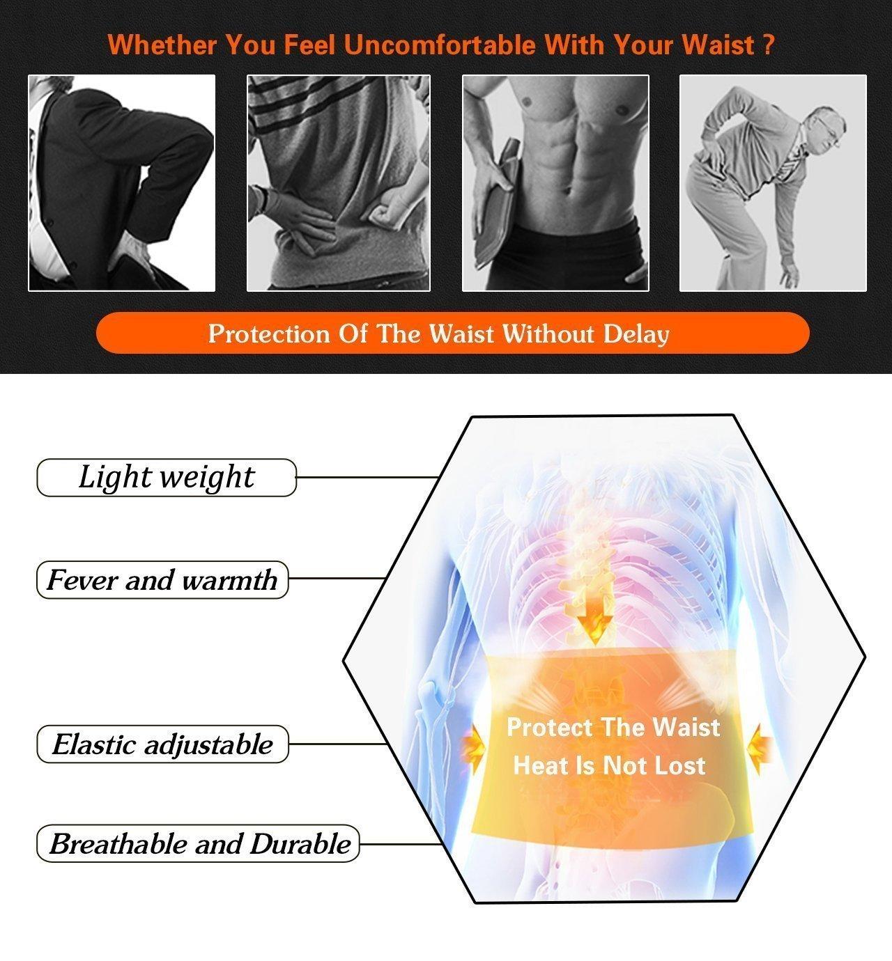 Orange-XL ZSZBACE Bauchwegg/ürtel Schwitzg/ürtel Neopren Bauchg/ürtel mit Ma/ßband Waist Trimmer Verstellbarer Fitnessg/ürtel Zum Abnehmen und Muskelaufbau f/ür Herren und Damen