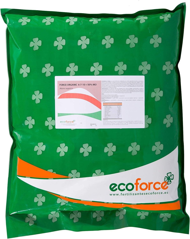CULTIVERS Force Organic de 5 kg. Abono para Plantas ecológico Micro granulado con NPK (6-7-10) + 50% Materia orgánica y Micro Elementos. 100% Orgánico y Natural