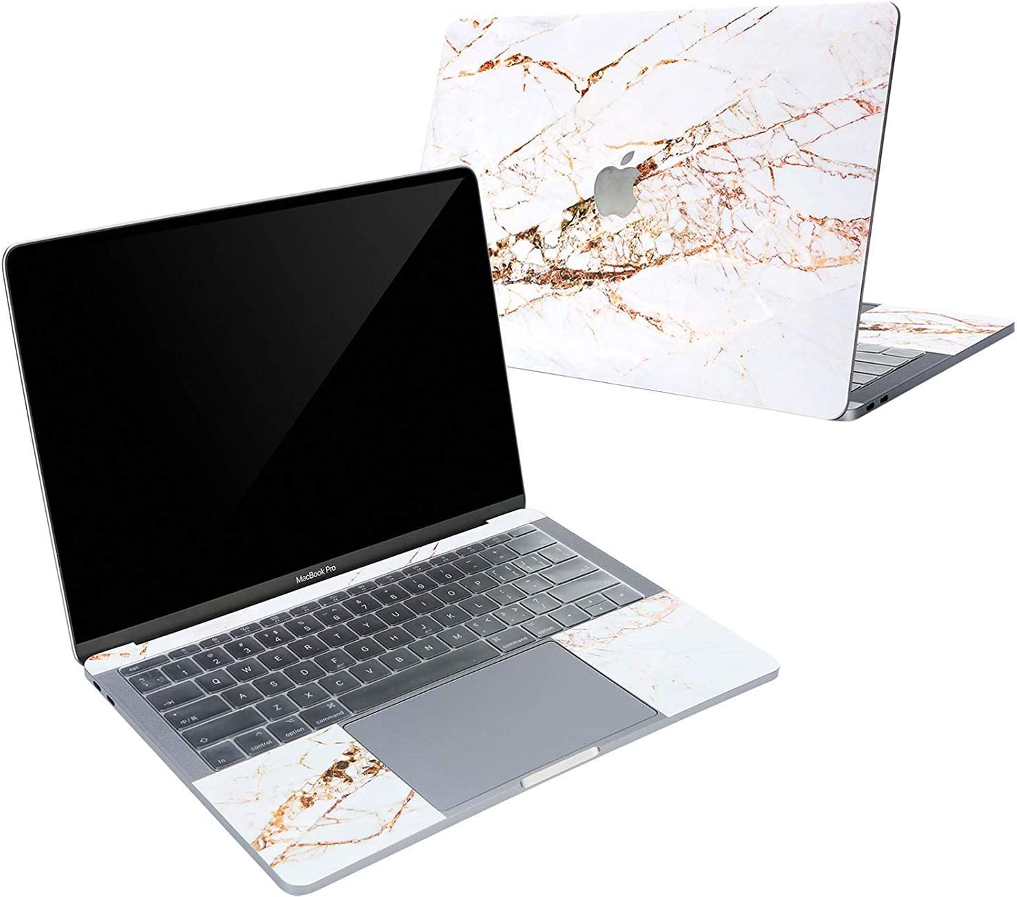 Digi-Tatoo 4-in-1 MacBook Skin Decal Sticker Compatible with Apple MacBook Pro 16 Inch w/Touch Bar (2019 New Model A2141), Full Body Protective, Removable and Anti-Scratch, Golden Rift