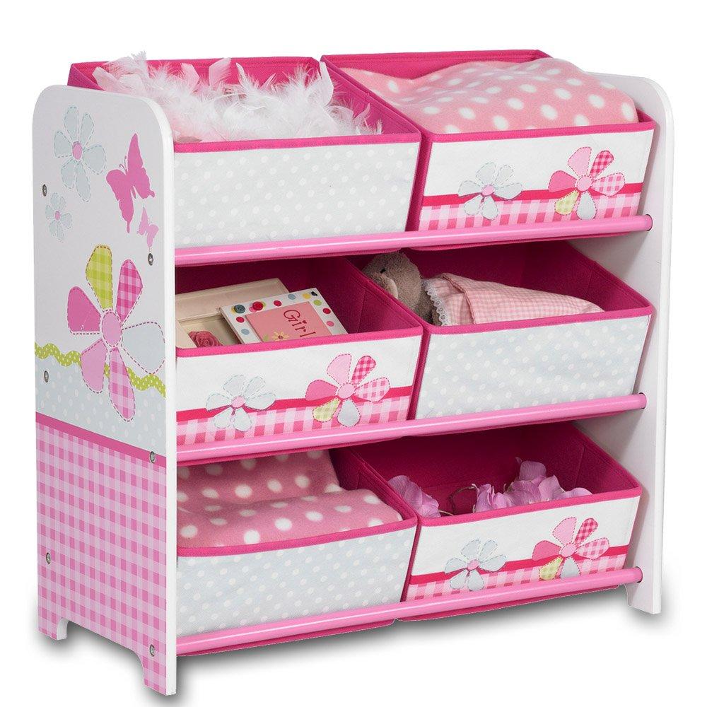Aufbewahrungsregal - Spielzeugkiste - Kinderregal - Regal 6 Boxen Mädchen und Jungs mit Motivwahl (Autos) TW24