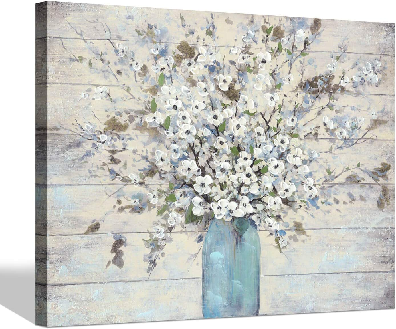 Amazon Com Abstract Flower Canvas Wall Art Bouquet Floral Painting Artwork On Wrapped Canvas For Living Room 24 X 18 X 1 Panel Paintings