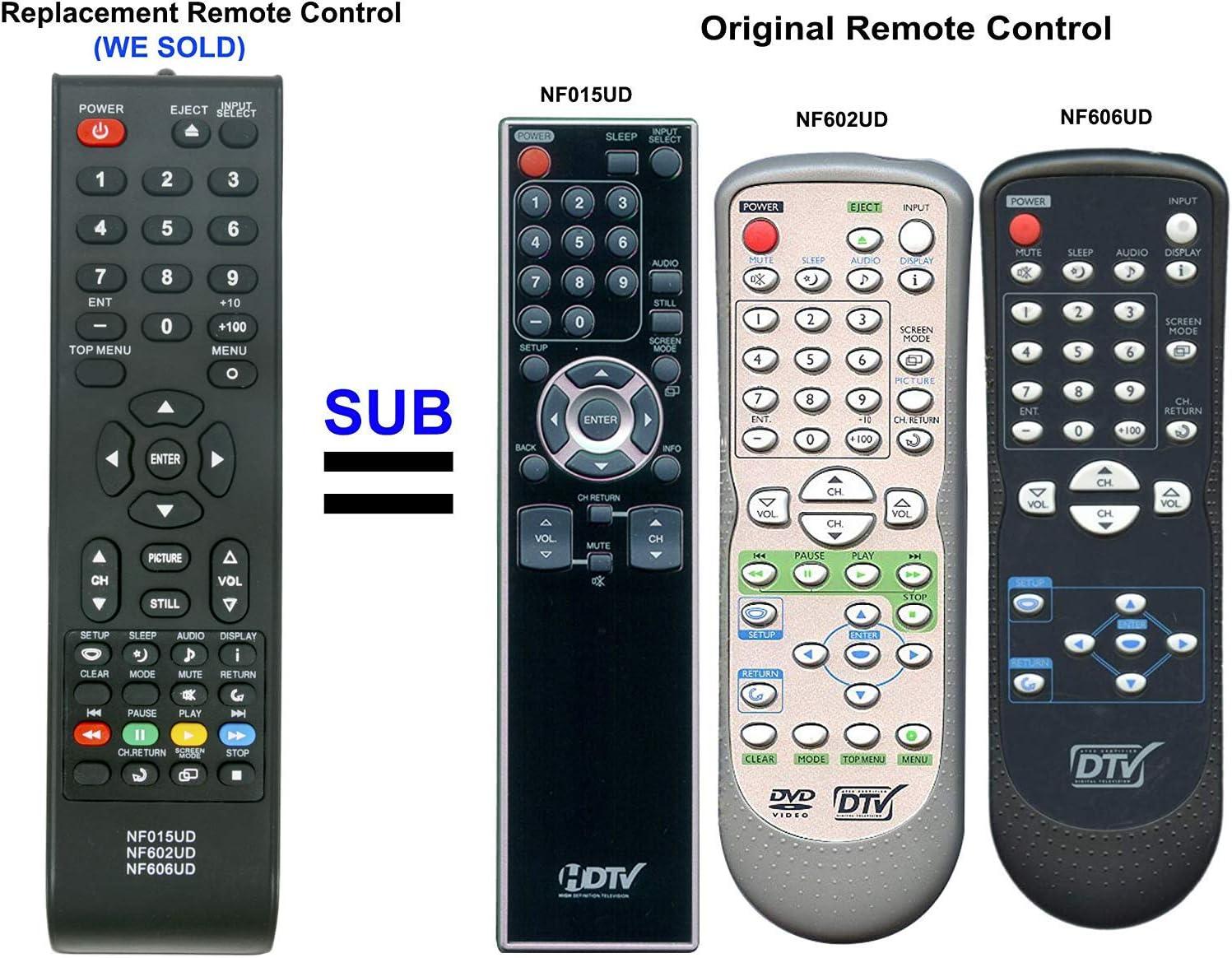 Mando a distancia NF015UD NF602UD NF606UD para televisor LCD LED ...