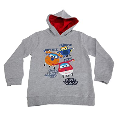 Super Wings Toddler Boys Jerome Donnie and Jett Character Hoodie (1-2 Years) c48b75b4b