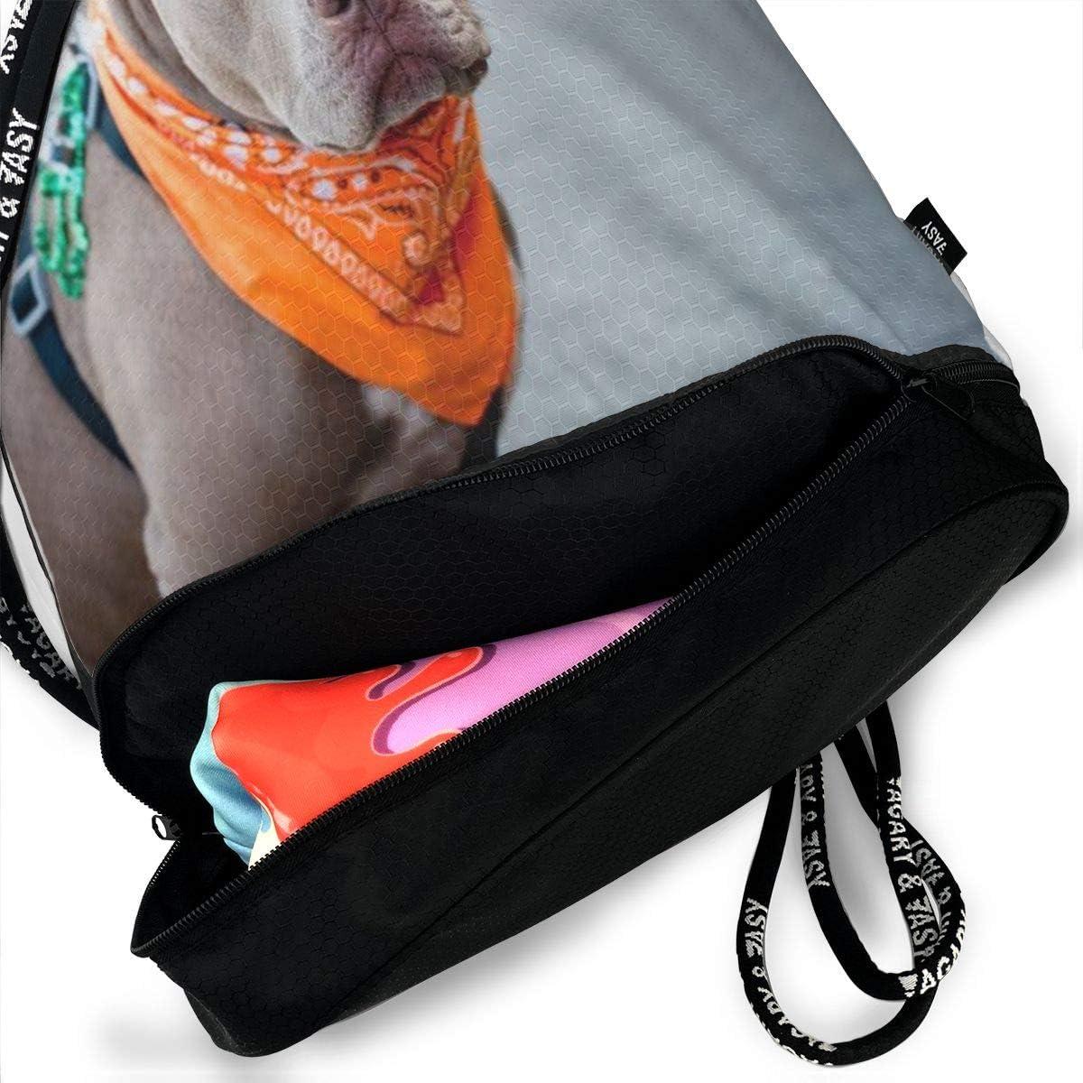 GymSack Drawstring Bag Sackpack Sorrowful Dog Sport Cinch Pack Simple Bundle Pocke Backpack For Men Women