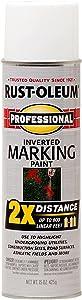 Rust-Oleum 266593-6PK Professional 2X Distance Marking Spray Paint, 15 Oz, White, 6 Pack