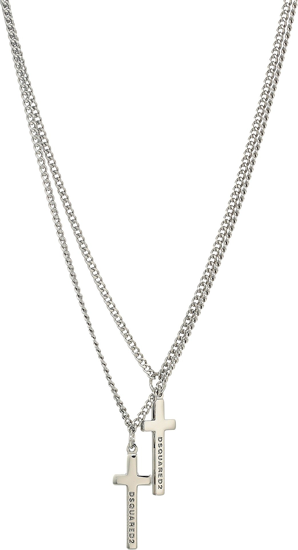 DSQUARED2  Men's Cross Necklace Palladio One Size