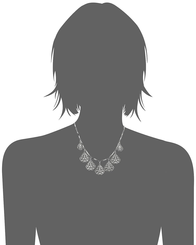 3 extender 16 1928 Jewelry Vine Filigree Teardrop Collar Necklace